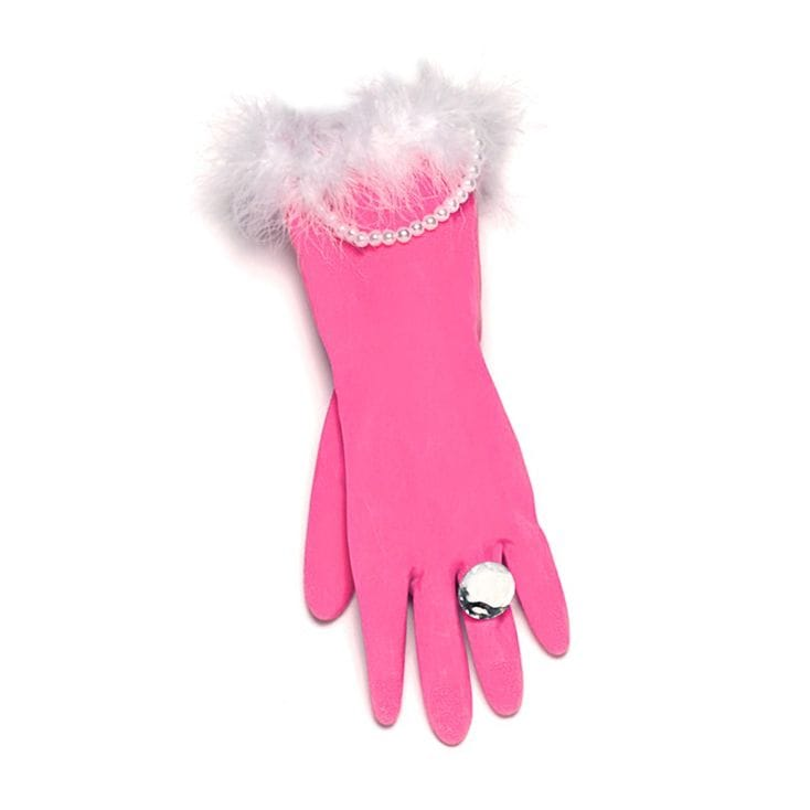 Pink & Pearly Washing Up Gloves | Find Me A Gift