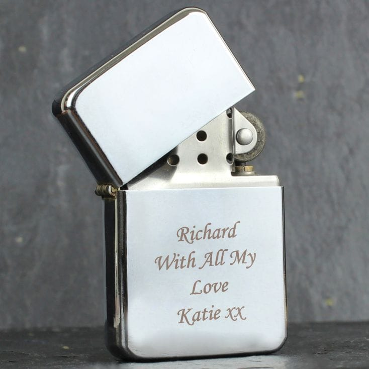 Engraved Chrome Lighter