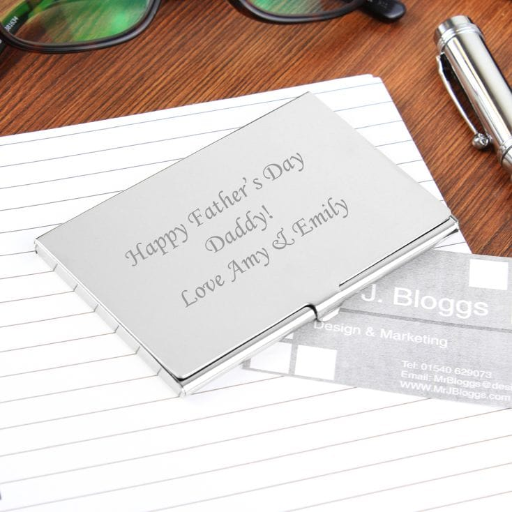Personalised Silver Card Holder