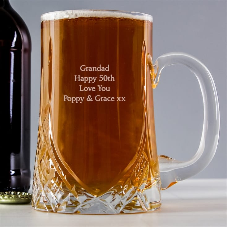 Lead Crystal Personalised Tankard
