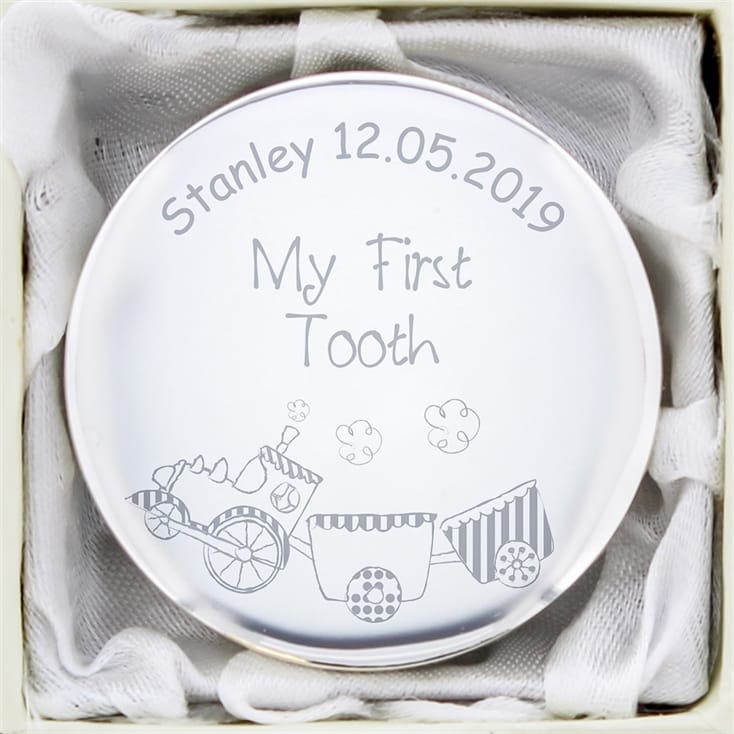 Personalised First Tooth Box - Train Design