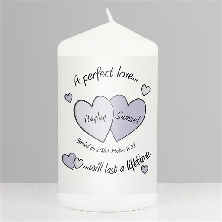 Personalised Wedding Candle - Perfect Love
