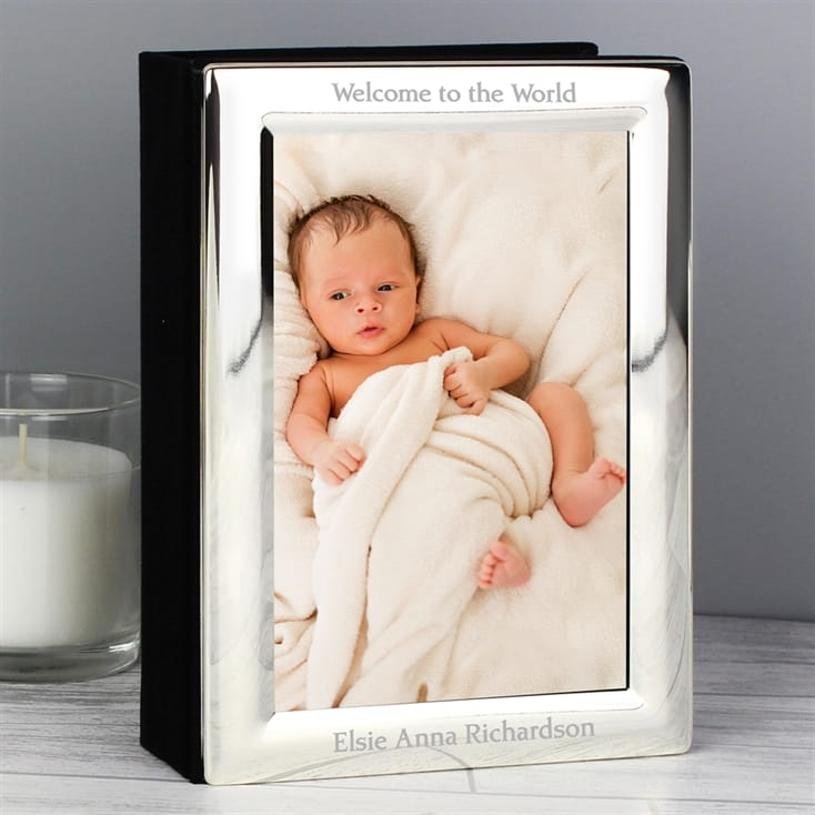 Personalised Silver Plated Photo Album
