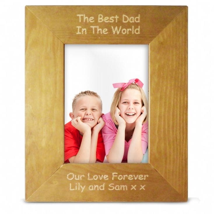 Personalised Wooden Photo Frame 5x7
