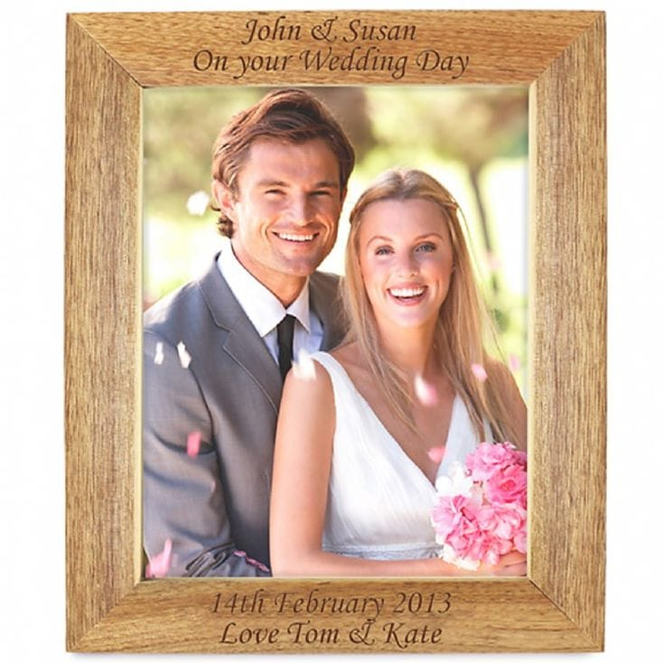 Personalised Wooden Photo Frame - 8 x 10