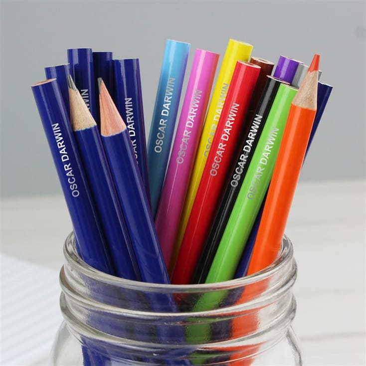 Pack of Personalised Colouring Pencils