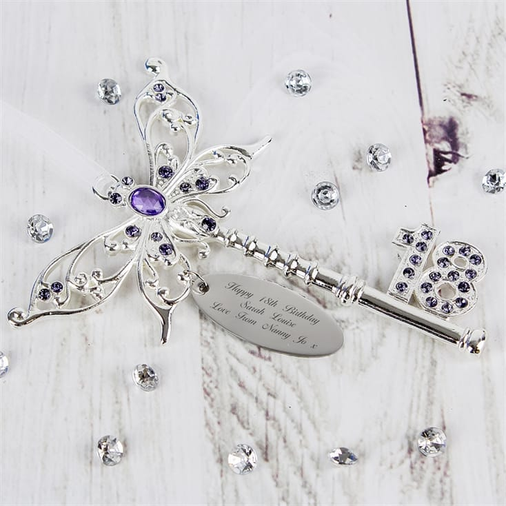 Lilac Butterfly 18th Birthday Key