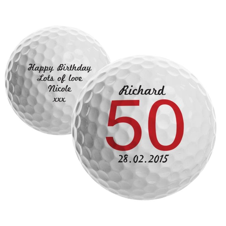50th Birthday Personalised Golf Ball
