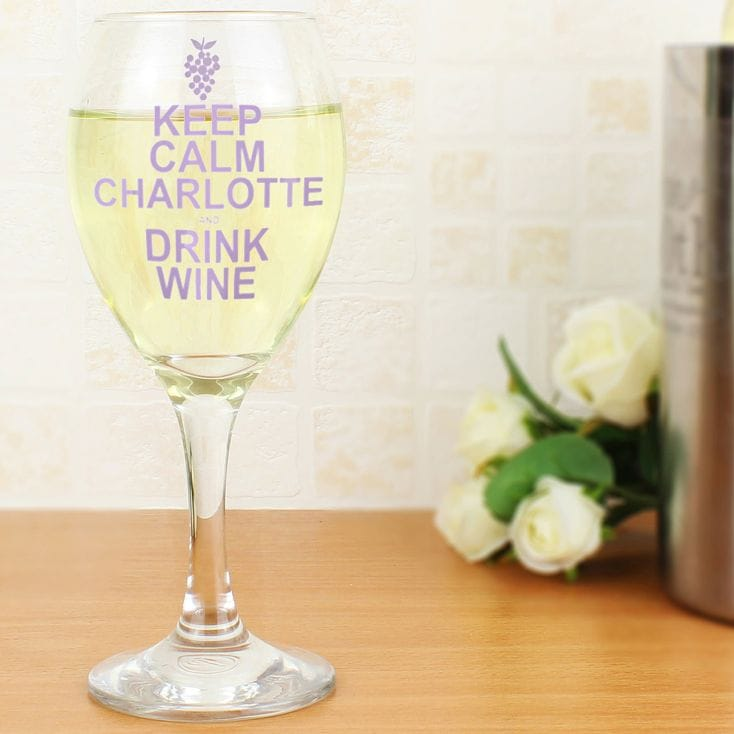 Keep Calm and Drink Wine Glass