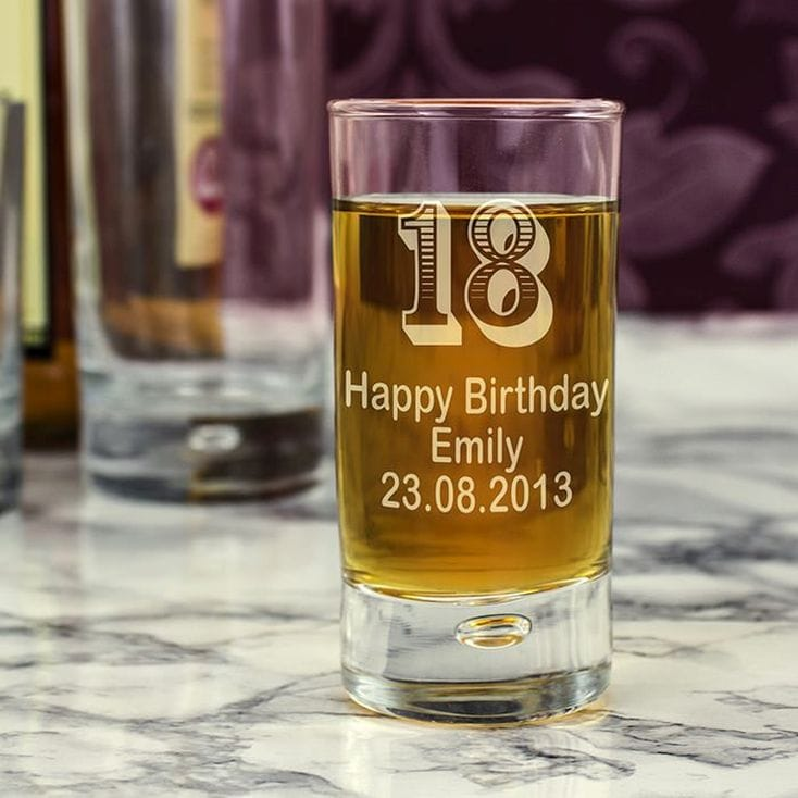 Personalised 18 Shot Glass