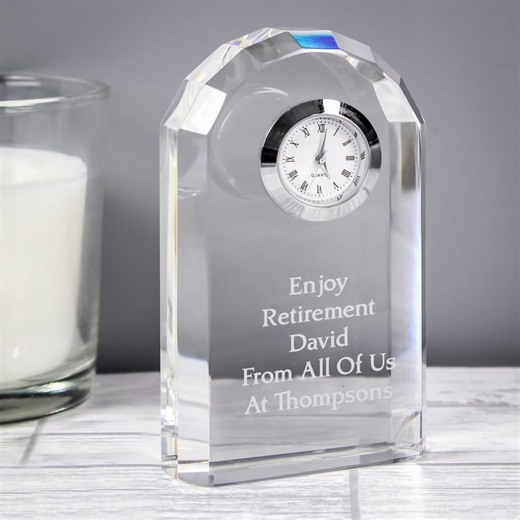 50th Birthday Personalised Glass Clock