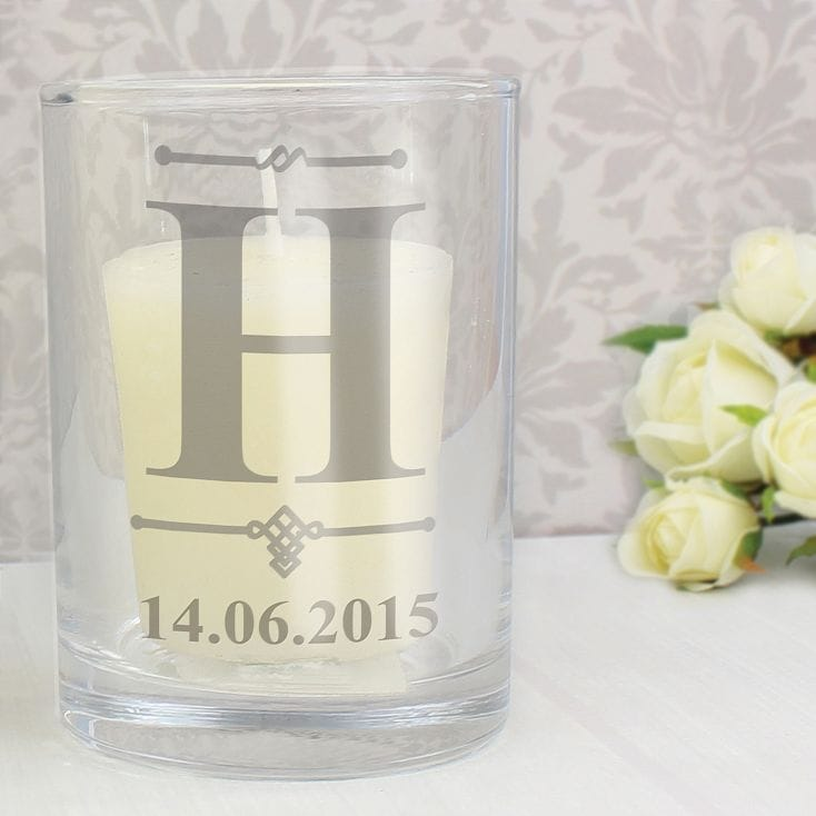 personalised candle holder
