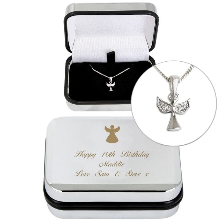 Angel Necklace with Personalised Box