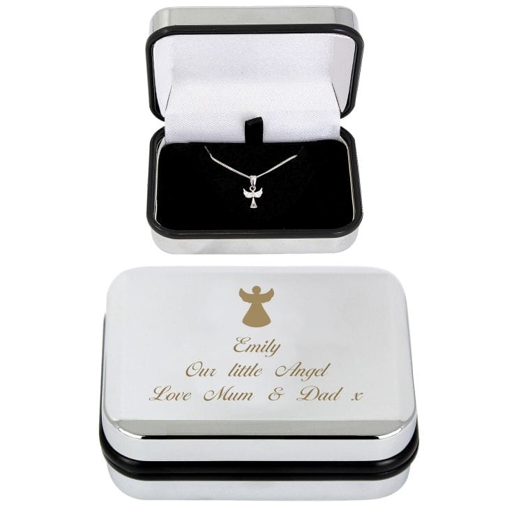 Angel Confirmation Necklace With Personalised Box