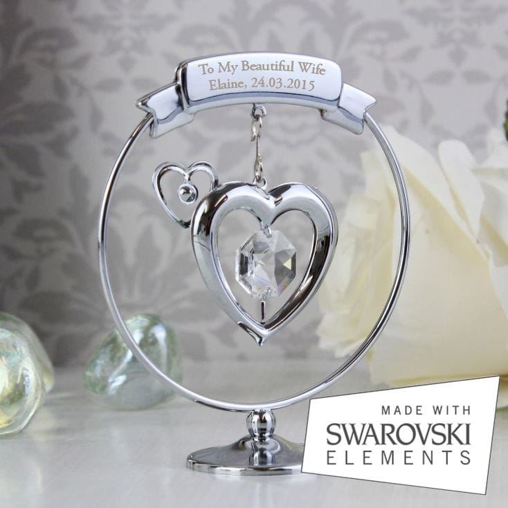 Personalised Crystal Heart Ornament
