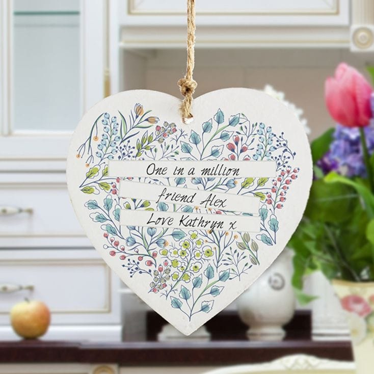 hanging wooden heart ornament