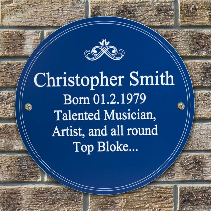 Personalised Heritage Plaque