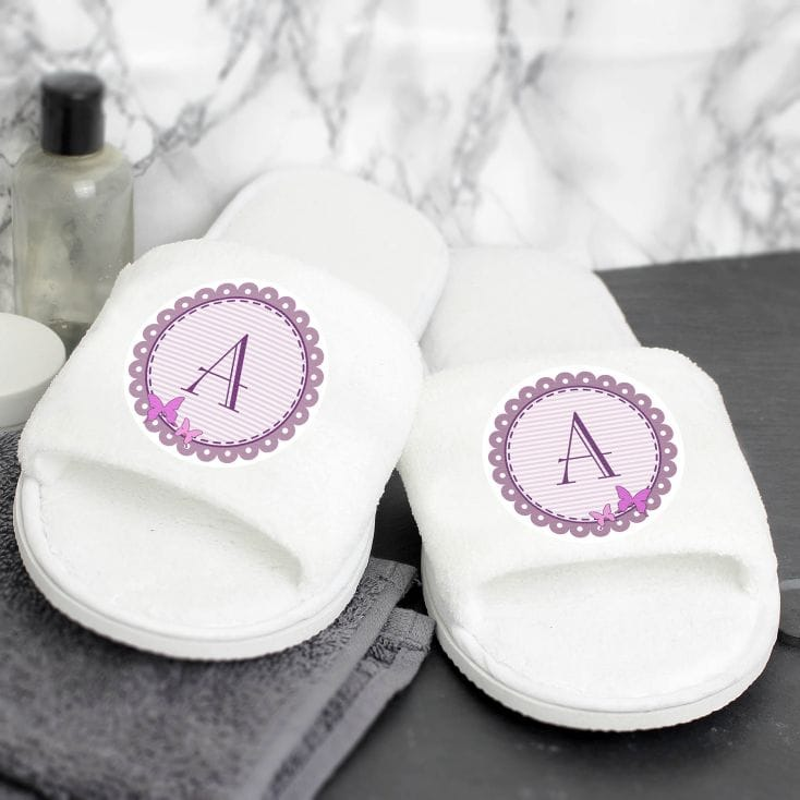personalised butterfly slippers