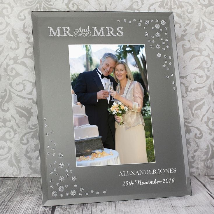 personalised mr and mrs frame