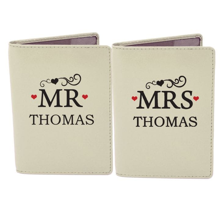 Personalised Mr and Mrs Passport Covers