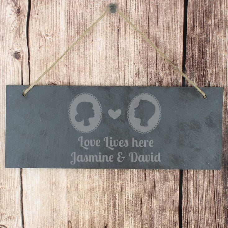cameo slate door sign