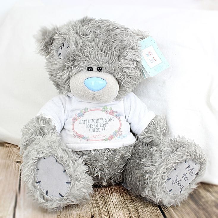 personalised me to you bear with t shirt
