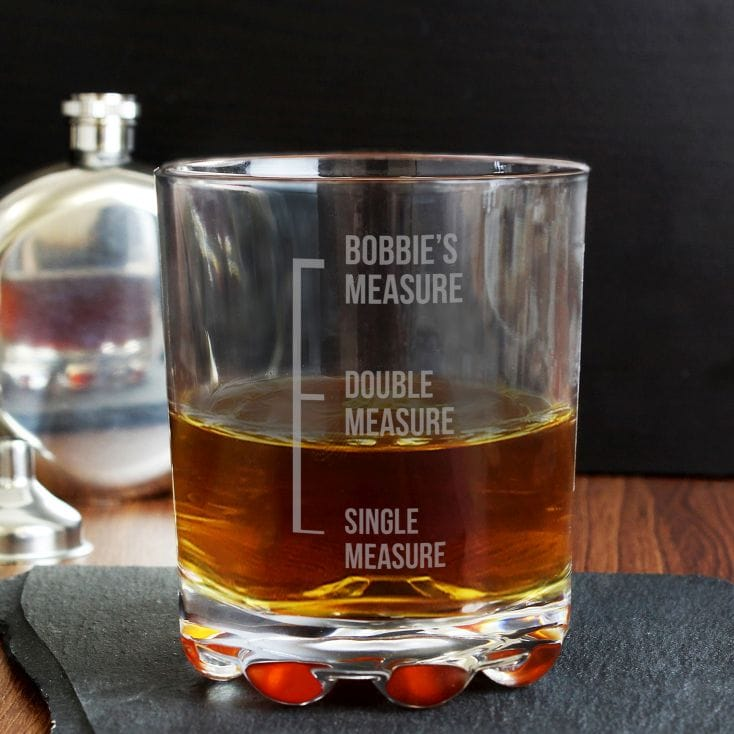'Measures' Engraved Whiskey Glass