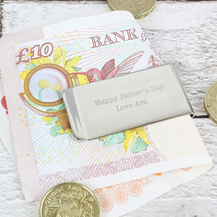 Personalised Message Money Clip
