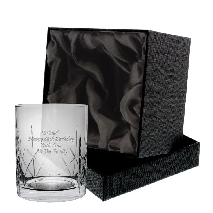 Personalised Crystal Whisky Tumbler With Gift Box- Gift Idea For Groom