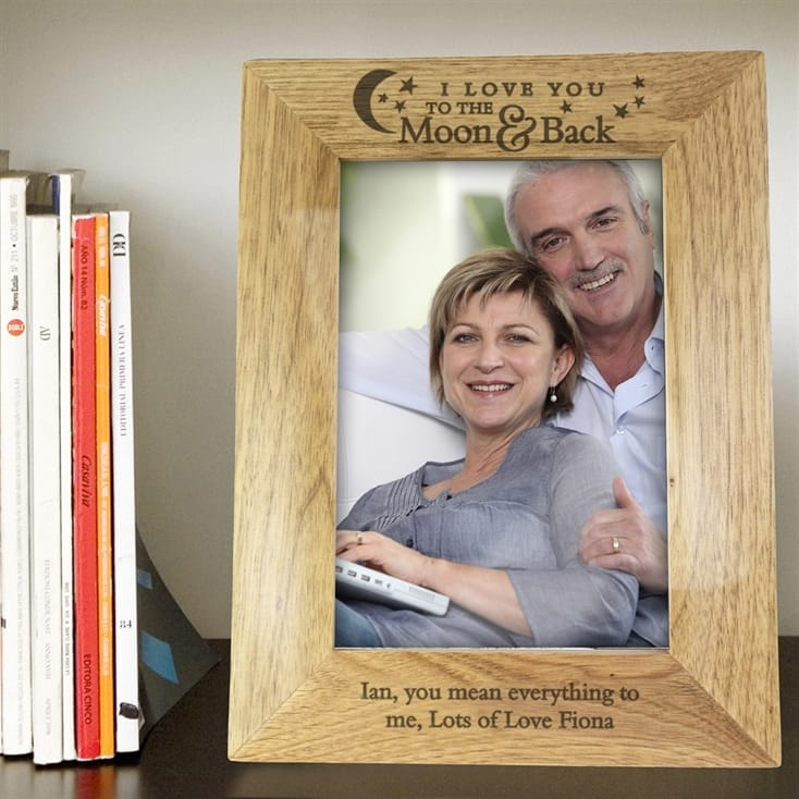 To The Moon And Back - Personalised Photo Frame For Boyfriend