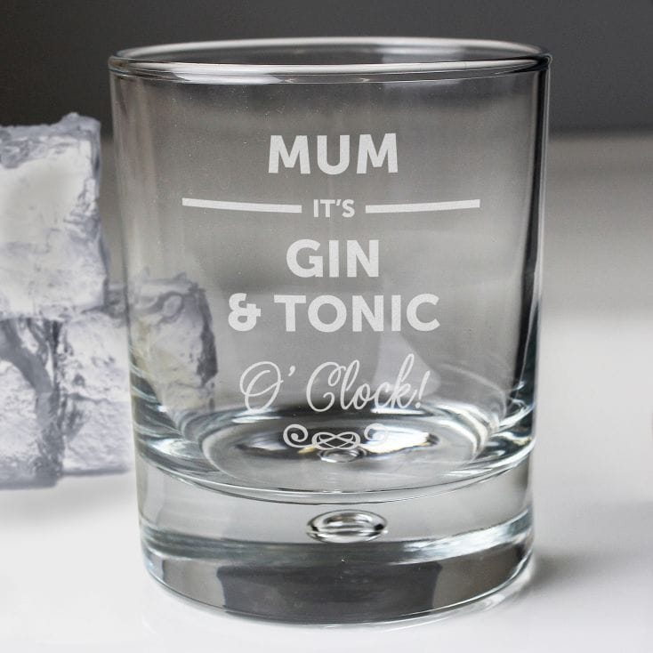 Personalised Its... O Clock Tumbler Glass for Mum