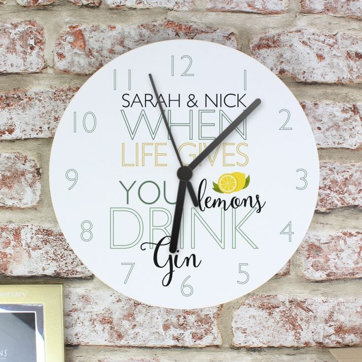 'When Life Gives You Lemons' Gin Clock