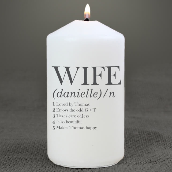 Personalised Wife Definition Candle