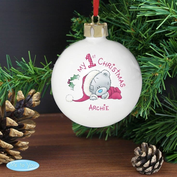 Me To You Personalised First Christmas Bauble