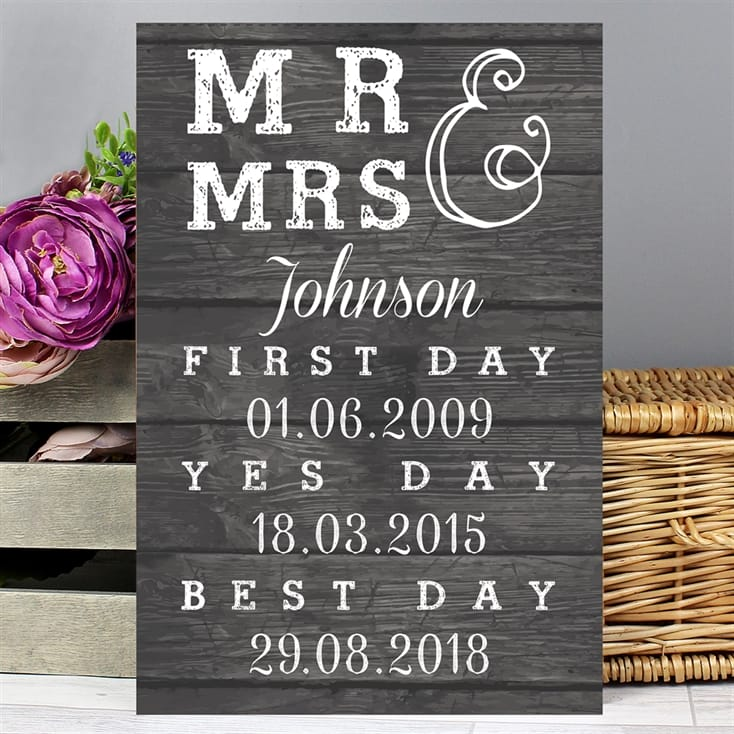 Mr & Mrs Personalised Metal Sign