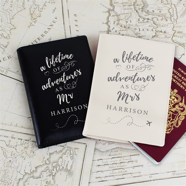 Personalised Mr and Mrs Travel Accessories