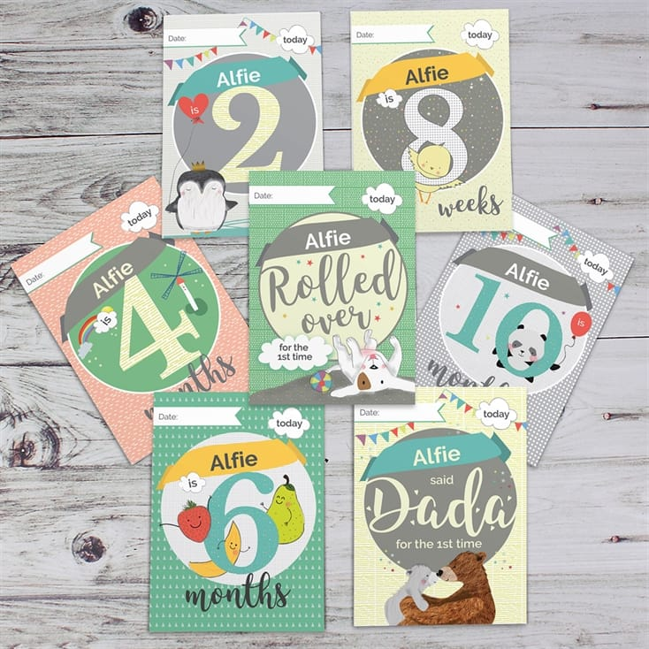 Personalised Baby Cards For Milestones