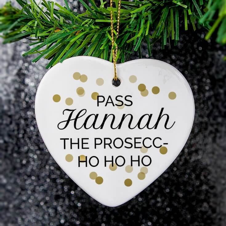 Personalised Gin or Prosecco Christmas Decoration