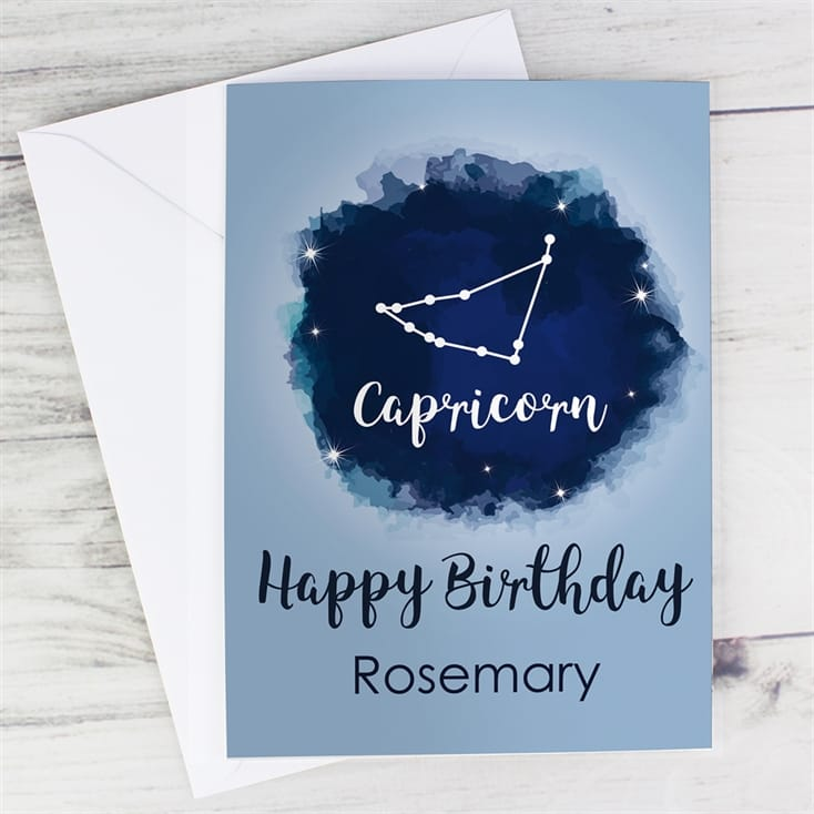 Personalised Zodiac Birthday Cards