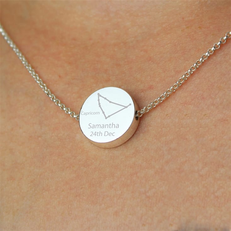Zodiac Birthday Silver Necklace