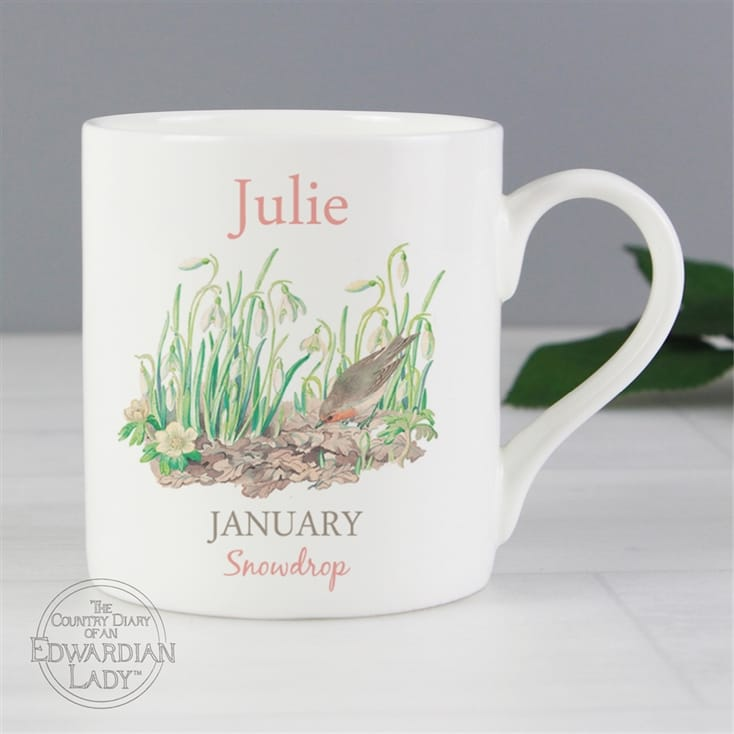 Personalised Flower Of The Month Mug