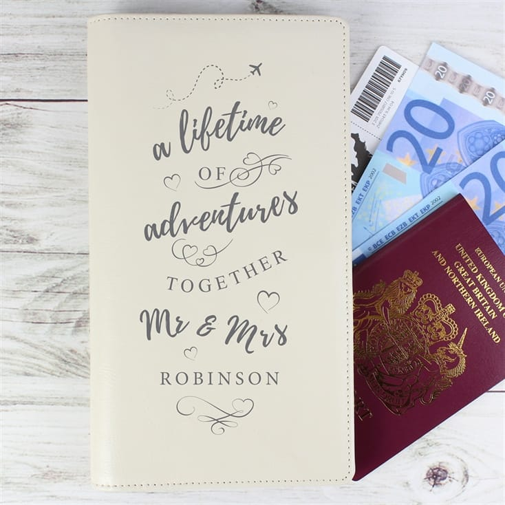 Personalised Mr And Mrs Travel Holder