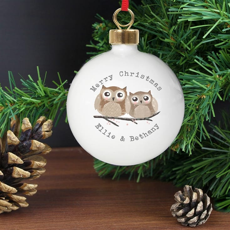 Personalised Owl Bauble