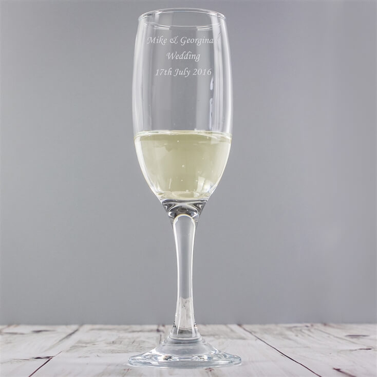 Personalised Champagne Flutes Set