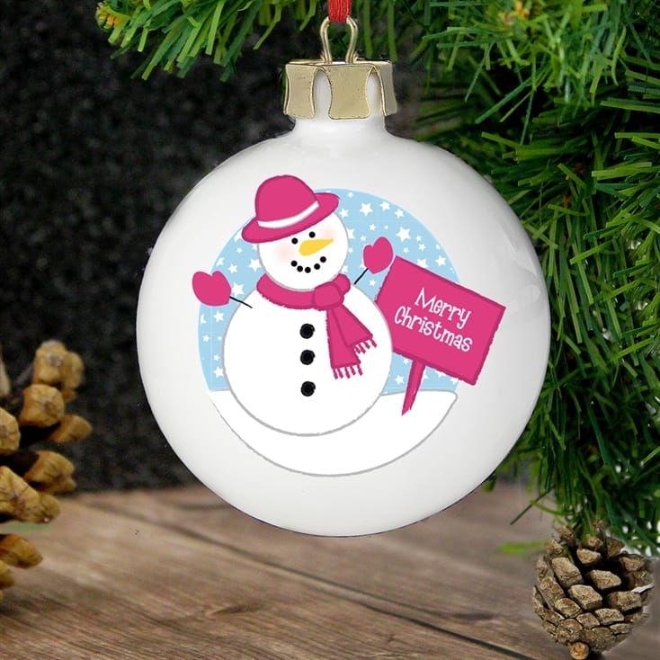 low priced c80f9 f0179 Personalised Christmas Tree Baubles