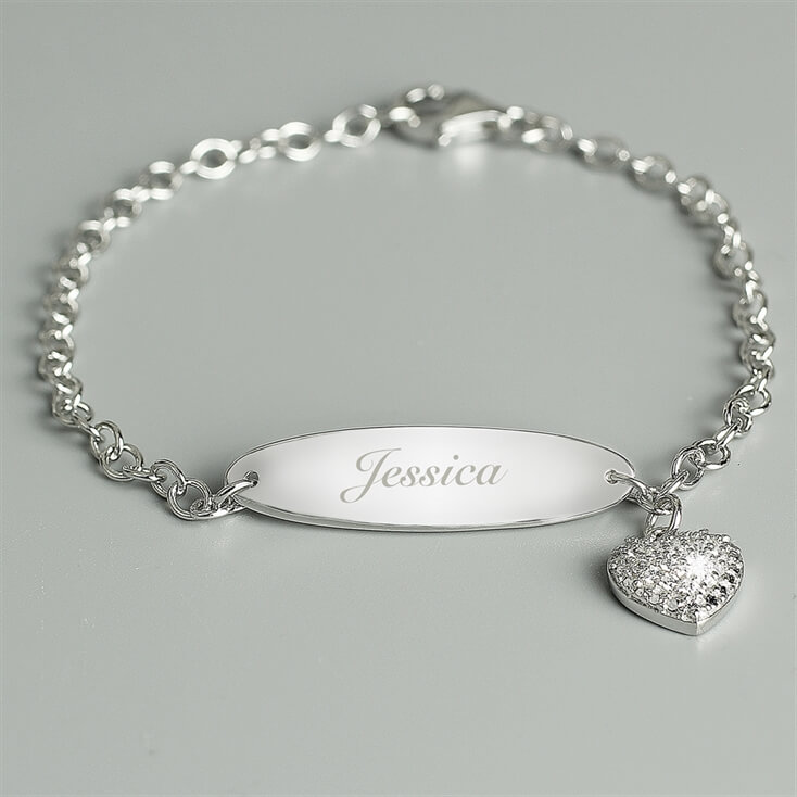 Personalised Children's Silver Bracelet