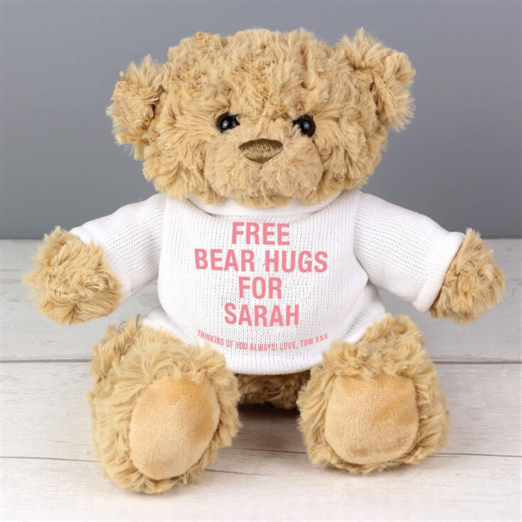 Personalised Hug and Cuddle Bears