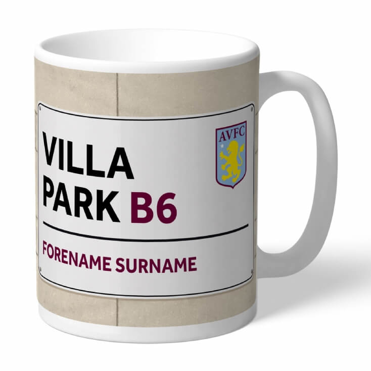 Personalised Football Club Street Sign Mugs