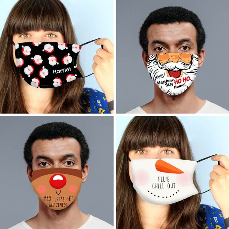 Personalised Christmas Face Covering