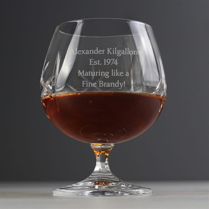 Crystal Personalised Brandy Glass - Small